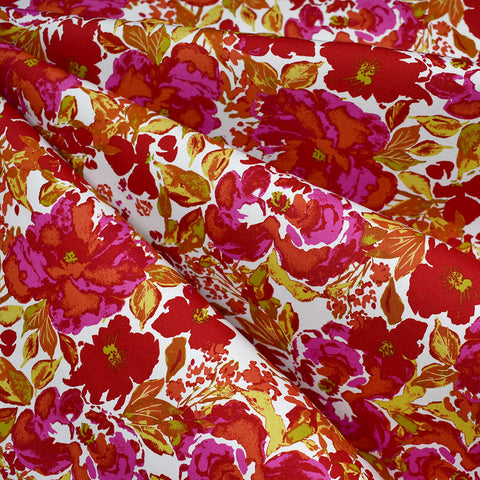 365 Fifth Avenue Dressing Room Floral Premium Cotton Rouge