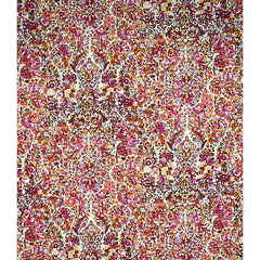 Marrakesh Treasured Tapestry Rayon Vanilla/Fuchsia - Fabric - Style Maker Fabrics