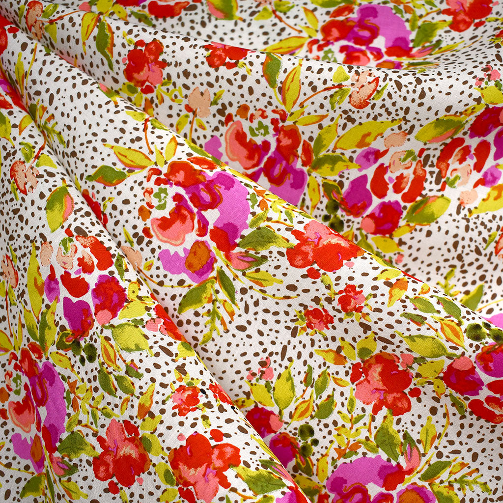 365 Fifth Avenue Manhattan Foliage Rayon Vanilla SY - Sold Out - Style Maker Fabrics