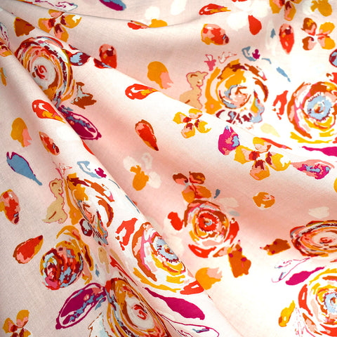 Rosewood Swifting Flora Rayon Soft Coral—Preorder