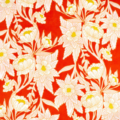 365 Fifth Avenue Madison Floral Rayon Blaze SY - Sold Out - Style Maker Fabrics