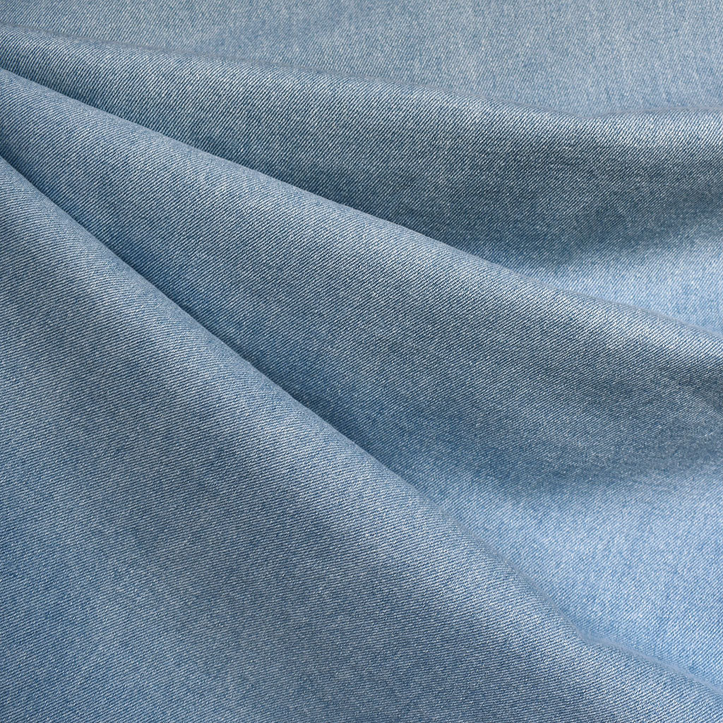 Soft Mid Weight Denim Bleached Blue - Fabric - Style Maker Fabrics