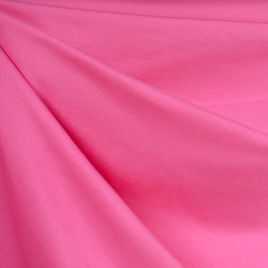 Mid Weight Cotton Jersey Knit Solid Pink - Fabric - Style Maker Fabrics