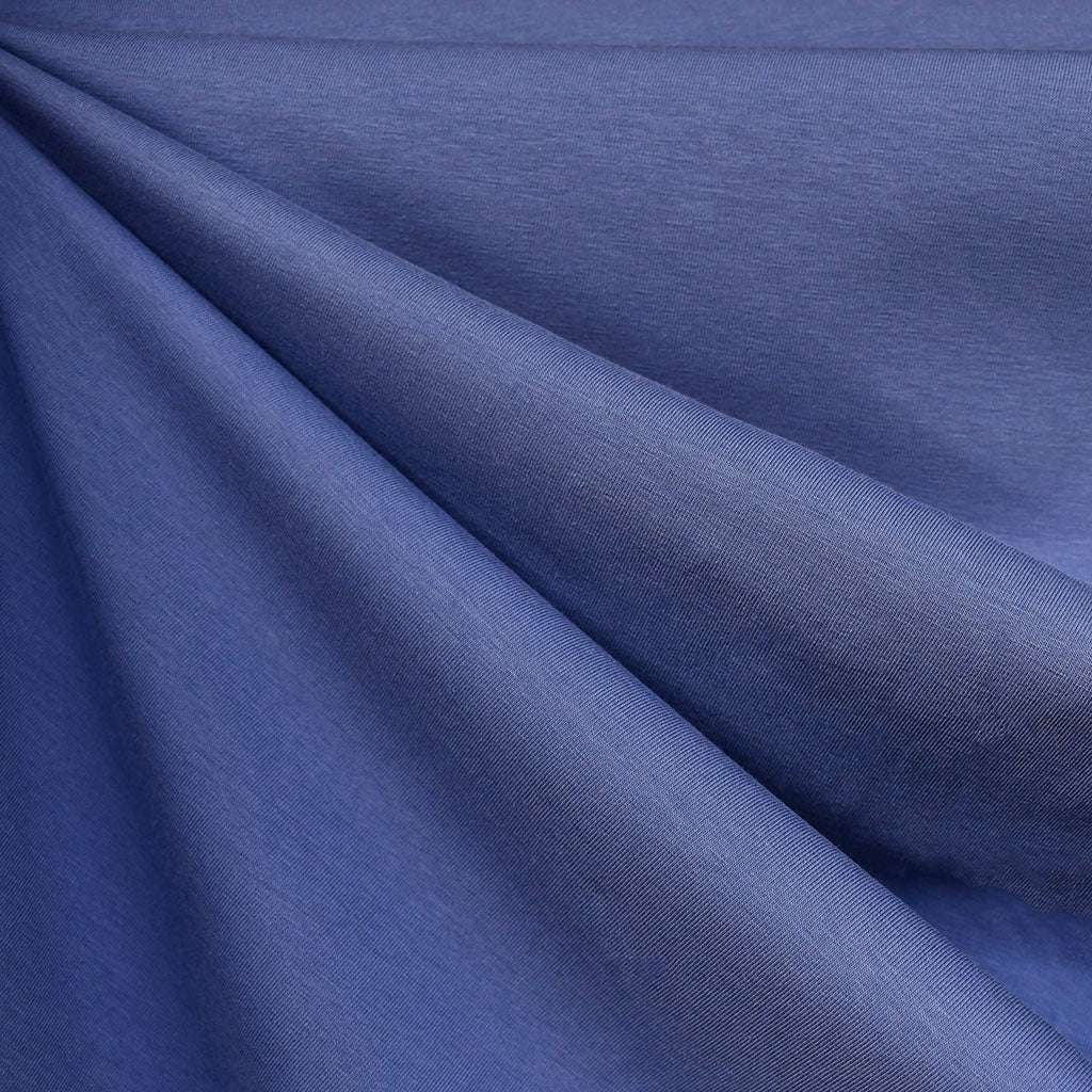 Mid Weight Cotton Jersey Knit Solid Periwinkle - Fabric - Style Maker Fabrics