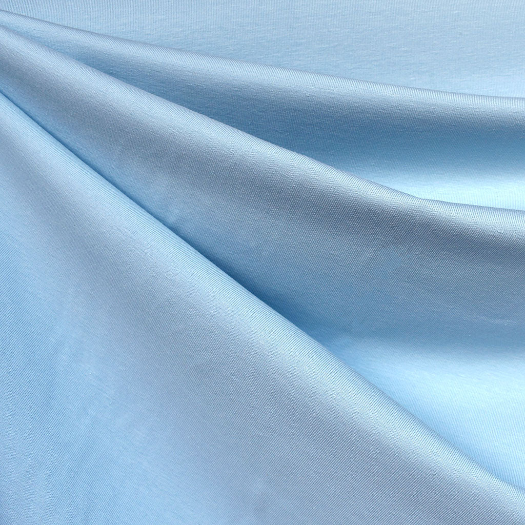 Mid Weight Cotton Jersey Knit Solid Sky - Fabric - Style Maker Fabrics