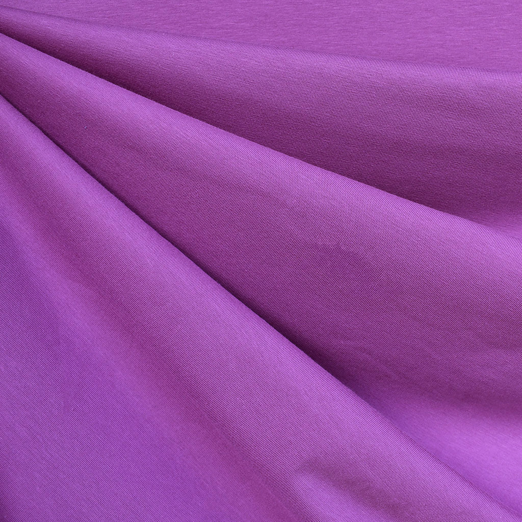 Mid Weight Cotton Jersey Knit Solid Orchid SY - Sold Out - Style Maker Fabrics