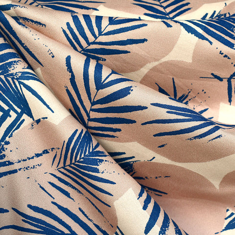 Atelier Brunette Summer Canopy Rayon Crepe Cobalt