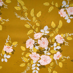 Her & History Secret Garden Cotton Mustard SY - Sold Out - Style Maker Fabrics