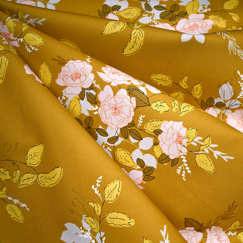 Her & History Secret Garden Cotton Mustard