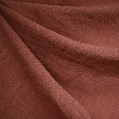 Soft Washed Linen Solid Brick SY