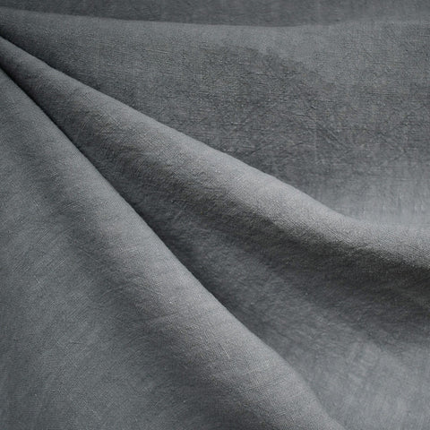Soft Washed Linen Solid Grey