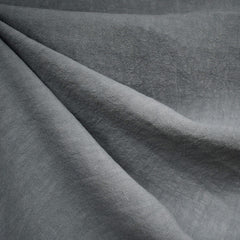 Soft Washed Linen Solid Grey - Fabric - Style Maker Fabrics