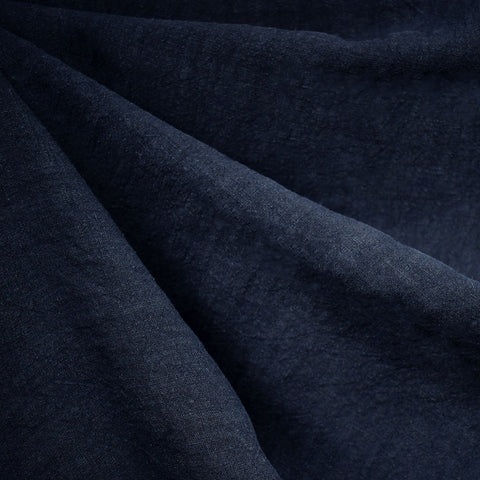 Soft Washed Linen Solid Navy