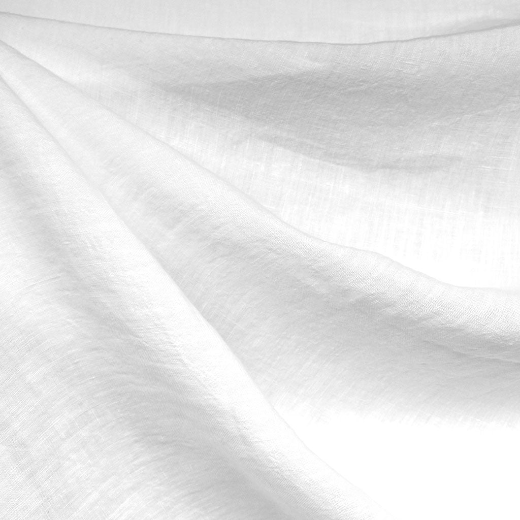 Washed Linen Shirting Solid White - Fabric - Style Maker Fabrics