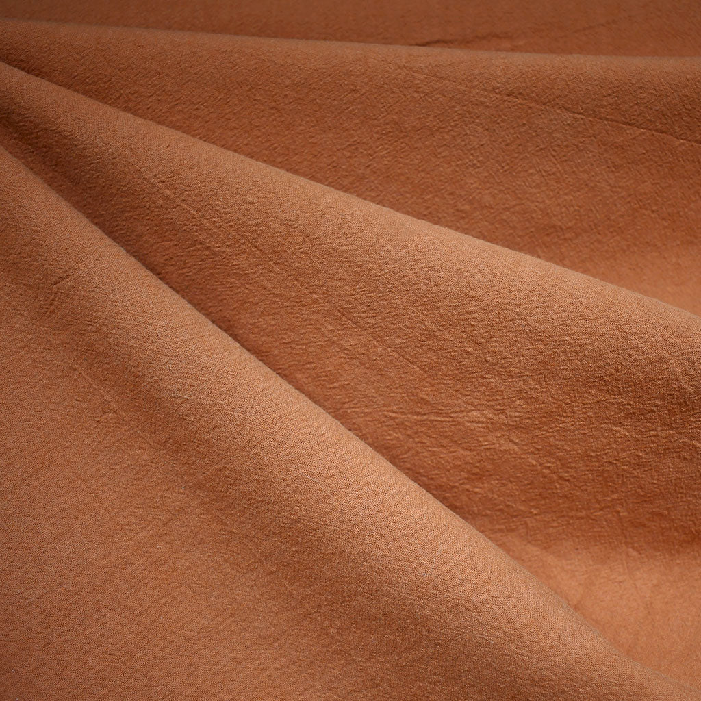 Washed Crinkle Cotton Solid Copper - Fabric - Style Maker Fabrics
