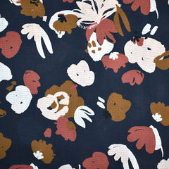 Atelier Brunette Autumn Posey Rayon Dobby Blue - Fabric - Style Maker Fabrics