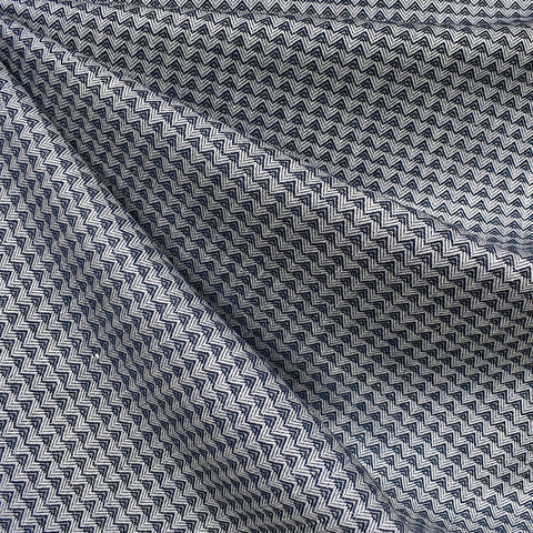 Warp & Weft Triangle Woven Shirting Navy