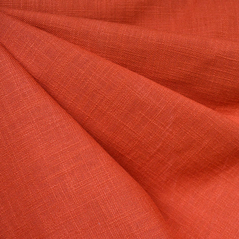 Warp & Weft Slub Canvas Solid Persimmon