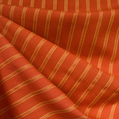 Warp & Weft Yarn Dyed Stripe Shirting Cayenne