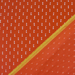 Warp & Weft Clip Dash Shirting Persimmon - Sold Out - Style Maker Fabrics