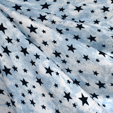 Starry Sky Jersey Knit Blue/Navy