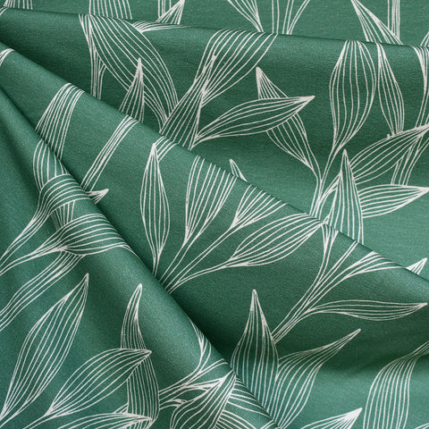 Vine Leaves Jersey Knit Jungle Green SY