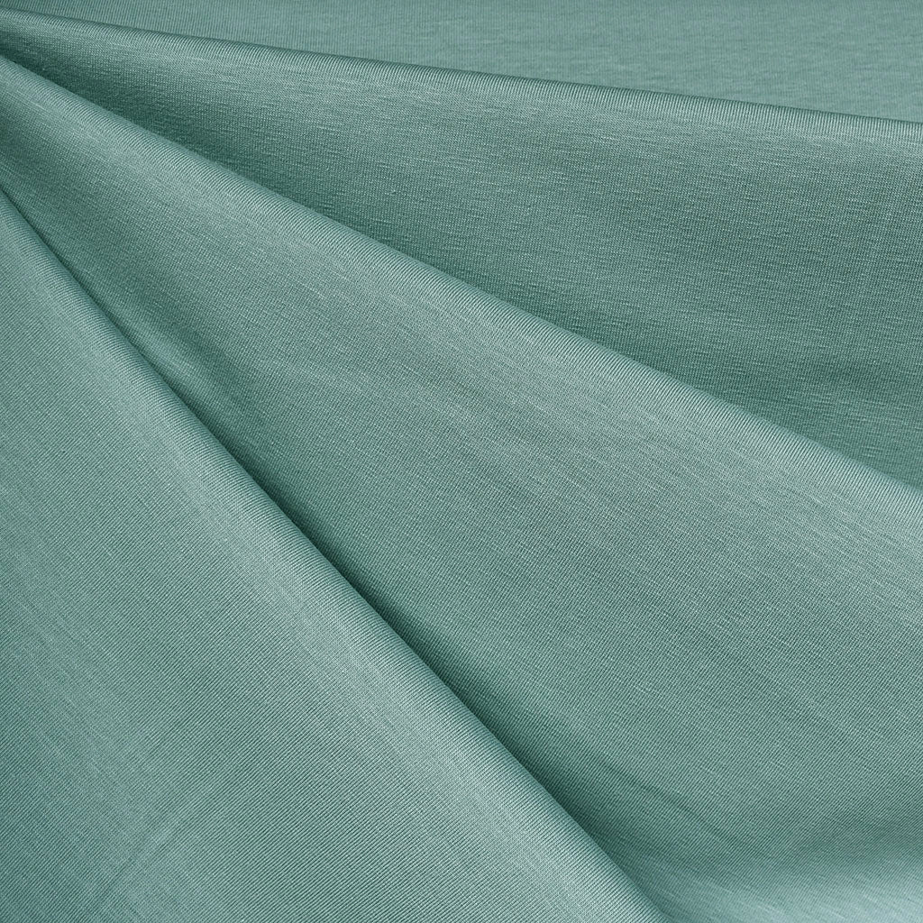 Mid Weight Cotton Jersey Knit Solid Sea Glass - Fabric - Style Maker Fabrics
