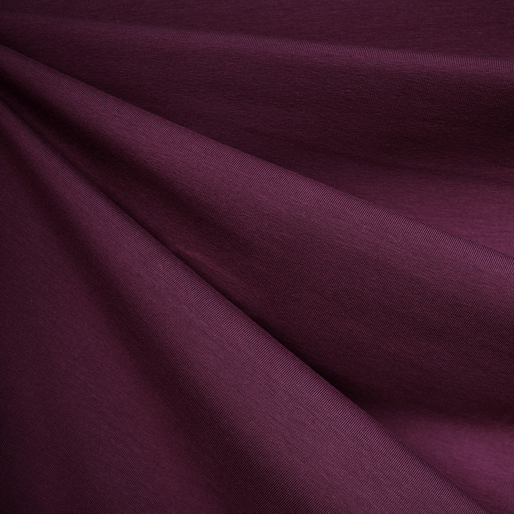 Mid Weight Cotton Jersey Knit Solid Plum—Preorder - Fabric - Style Maker Fabrics