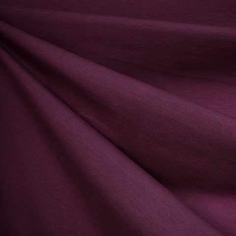 Mid Weight Cotton Jersey Knit Solid Plum