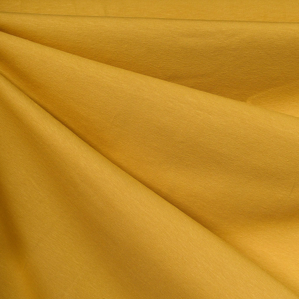 Mid Weight Cotton Jersey Knit Solid Mustard SY - Sold Out - Style Maker Fabrics