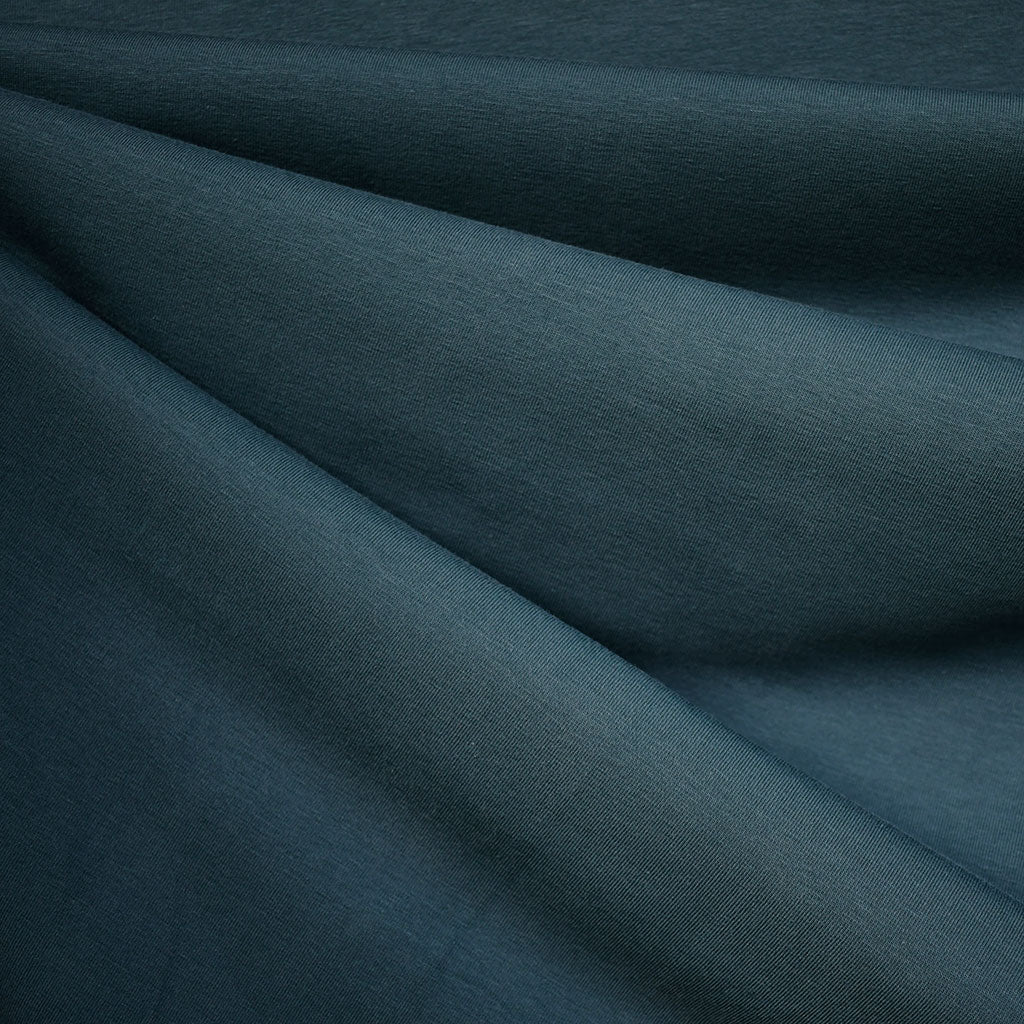Mid Weight Cotton Jersey Knit Solid Ocean - Fabric - Style Maker Fabrics