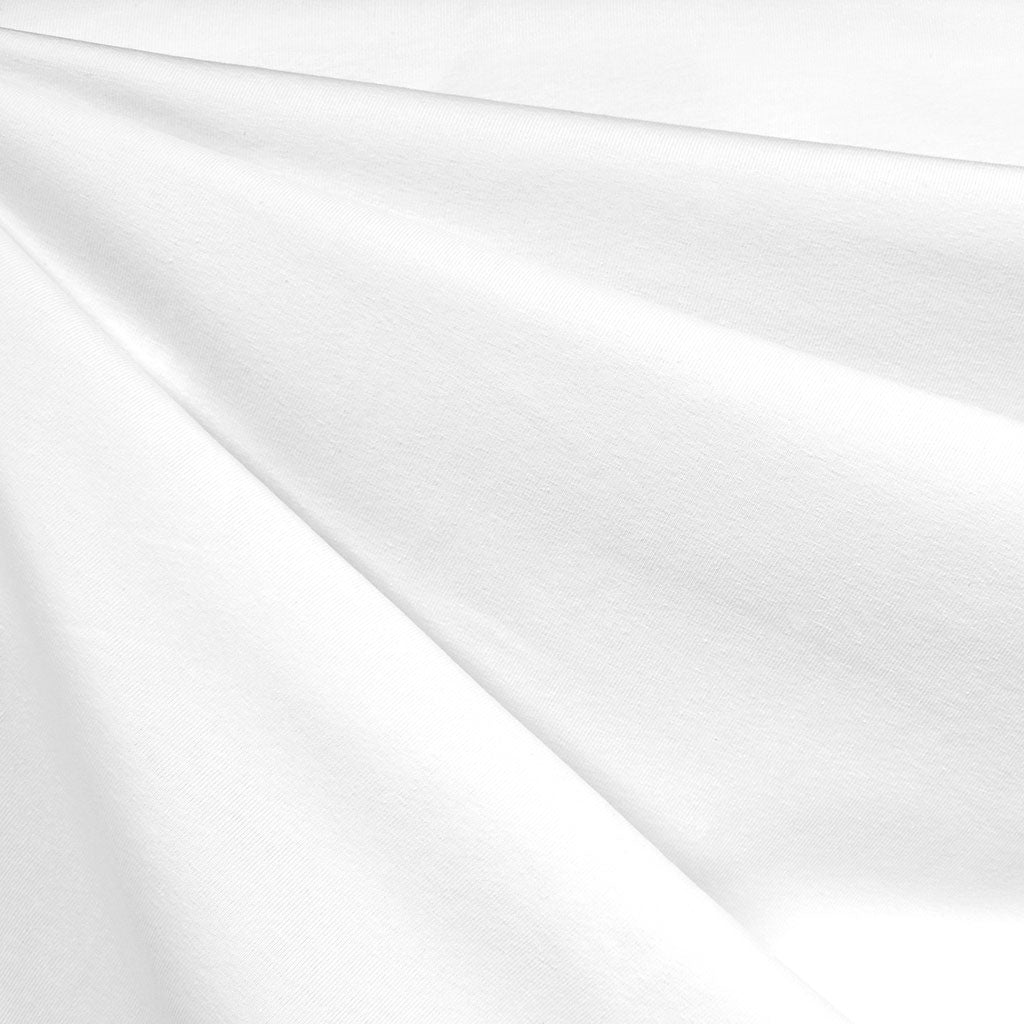 Mid Weight Cotton Jersey Knit Solid White SY - Sold Out - Style Maker Fabrics