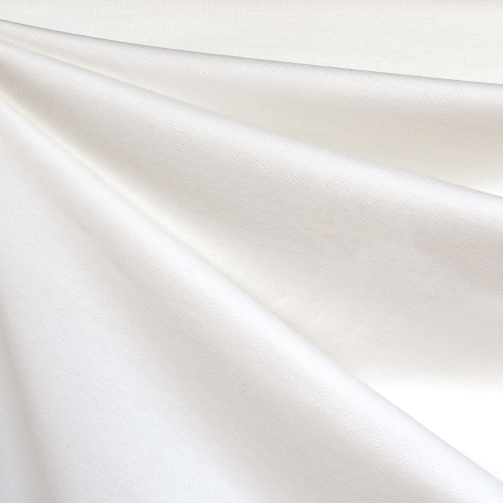 Mid Weight Cotton Jersey Knit Solid Vanilla - Fabric - Style Maker Fabrics