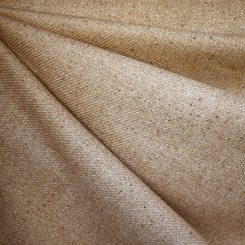 Metallic Slub Wool Blend Coating Camel/Gold