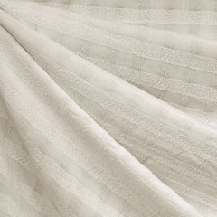 Shadow Check Tencel Shirting Cream - Fabric - Style Maker Fabrics