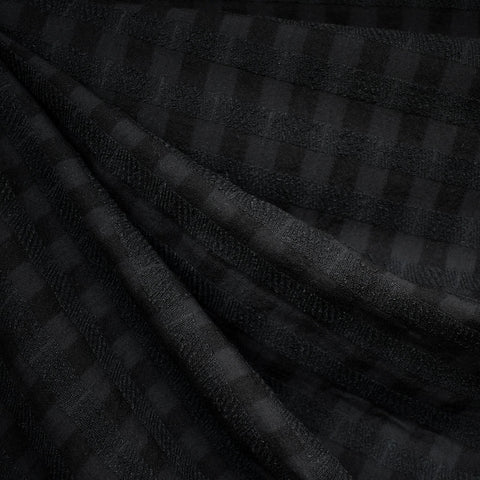 Shadow Check Tencel Shirting Black