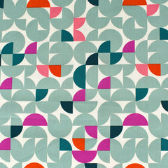 Trouvaille Cherished Geometric Premium Cotton Sea Glass—Preorder - Fabric - Style Maker Fabrics