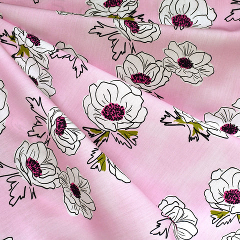 Trouvaille Anemone Floral Premium Cotton Blush