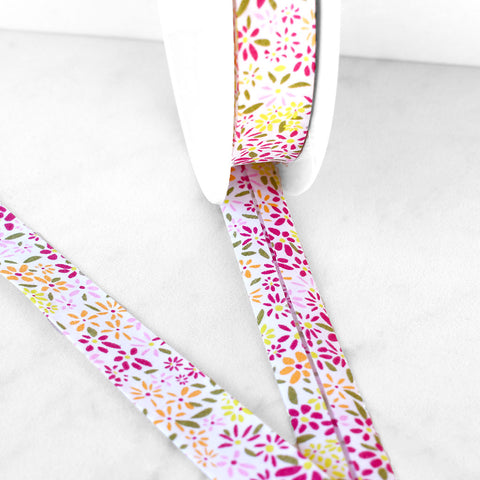 Tiny Daisy Floral Bias Tape