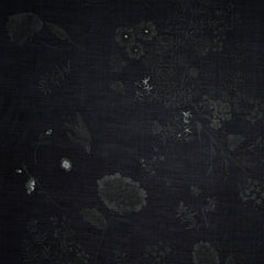 Japanese Nani Iro Tonal Jardin Cotton Silk Blend Shirting Black - Fabric - Style Maker Fabrics