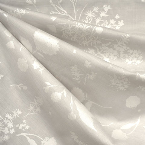 Japanese Nani Iro Tonal Jardin Cotton Silk Blend Shirting Pearl