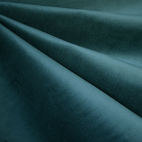 Designer Stretch Pinwale Corduroy Solid Teal—Preorder