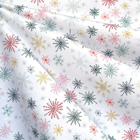Cozy & Joyful Snow Flurries Premium Cotton White
