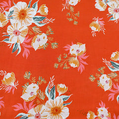 Cozy & Joyful Candied Roses Rayon Cherry - Fabric - Style Maker Fabrics