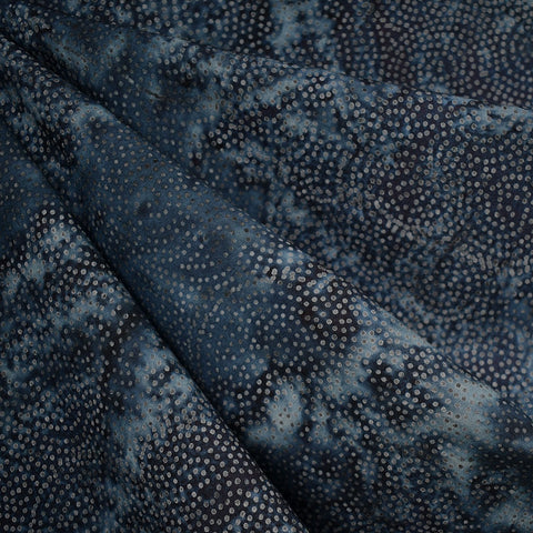 Swirling Mini Dot Rayon Batik Midnight