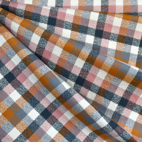 Mammoth Flannel Mini Check Plaid Turmeric/Rose—Preorder