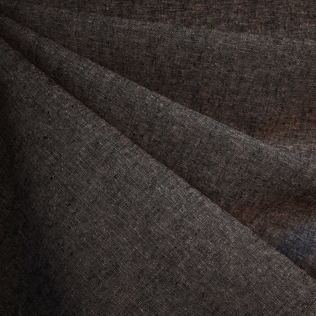 Essex Yarn Dyed Linen Blend Espresso - Fabric - Style Maker Fabrics