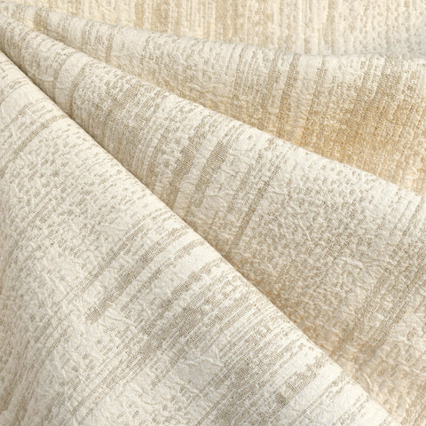 Distressed Texture Linen Blend Jacquard Cream