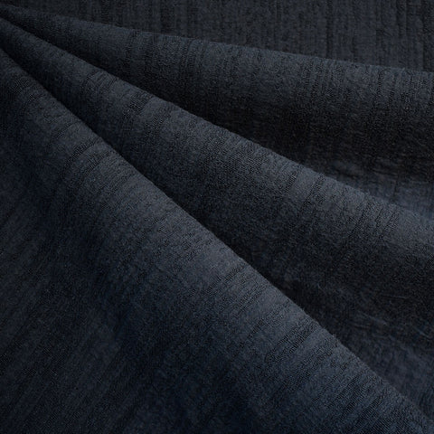 Distressed Texture Linen Blend Jacquard Navy