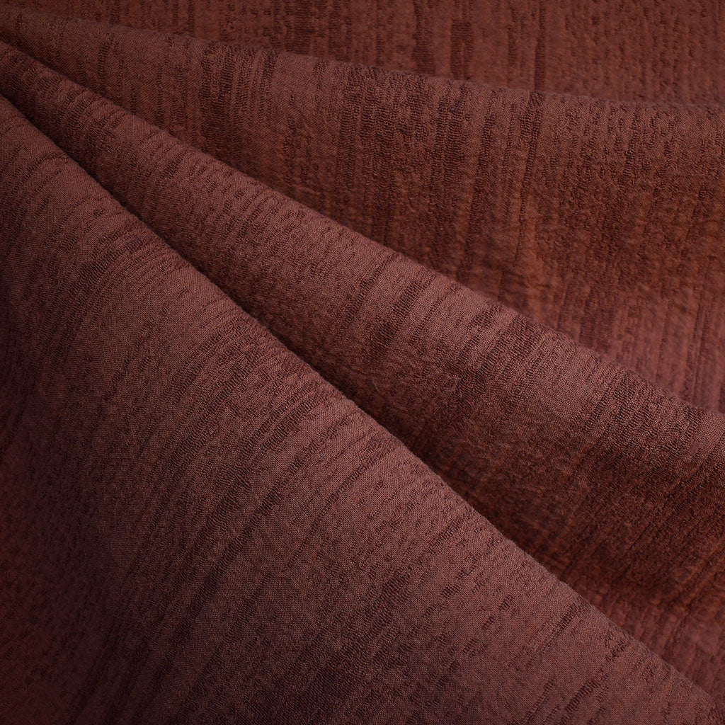 Distressed Texture Linen Blend Jacquard Rust—Preorder - Fabric - Style Maker Fabrics